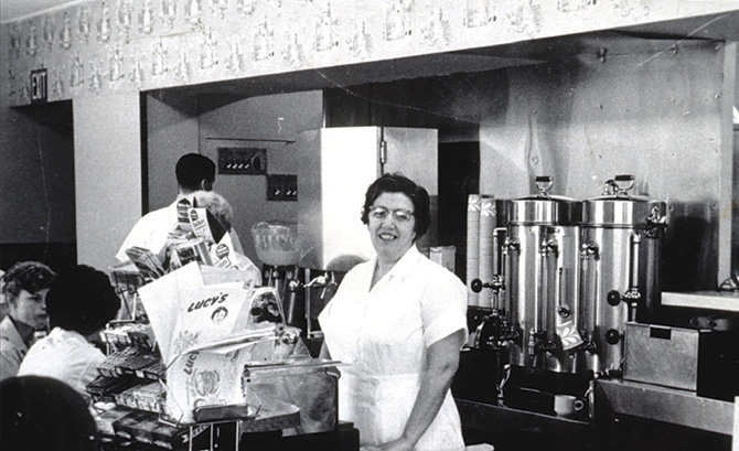 Lucy Loglisci at Lucy's Diner