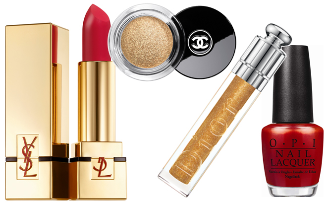 Sparkle and shine for the holidays with gorgeous reds and glittering golds