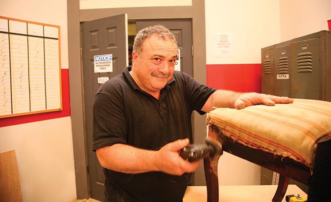 Mark DeVito on the set of Flea Market Flip