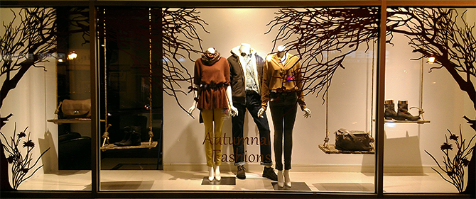 Mitchells Westport window display